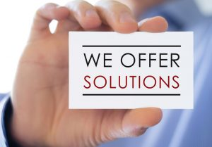 We offer solutions - business card